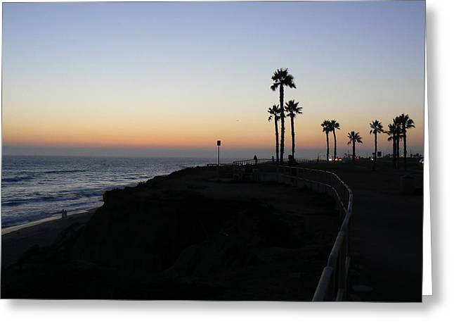 Sunset Pch 2006 Greeting Card by Ron Hayes
