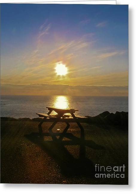 Sunset Picnic Greeting Card by Terri Waters