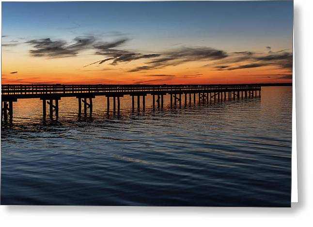 Sunset Pier Seaside Nj January 2017 Greeting Card by Terry DeLuco