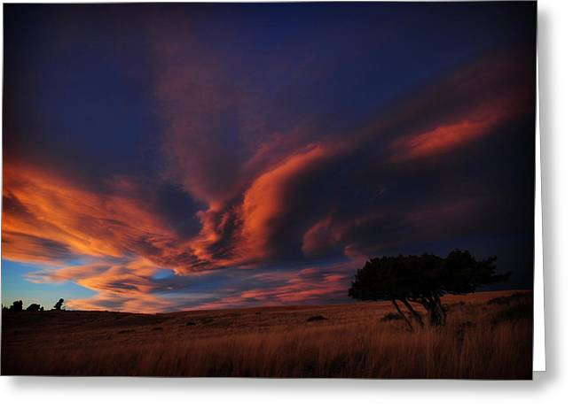 Sunset Plains Greeting Card