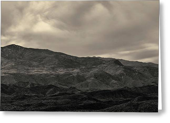 Sunset Point Arizona Panorama Toned Greeting Card by David Gordon