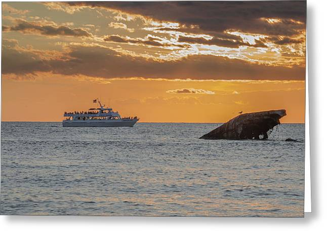 Sunset Point - Cape May Greeting Card by Bill Cannon
