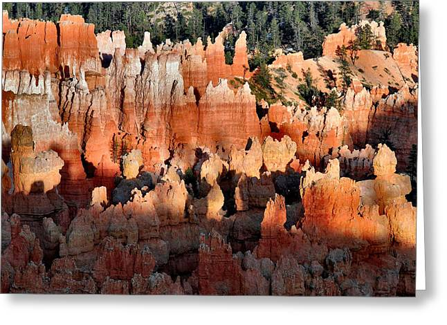 Sunset Point Hoodoos Greeting Card by Stephen  Vecchiotti
