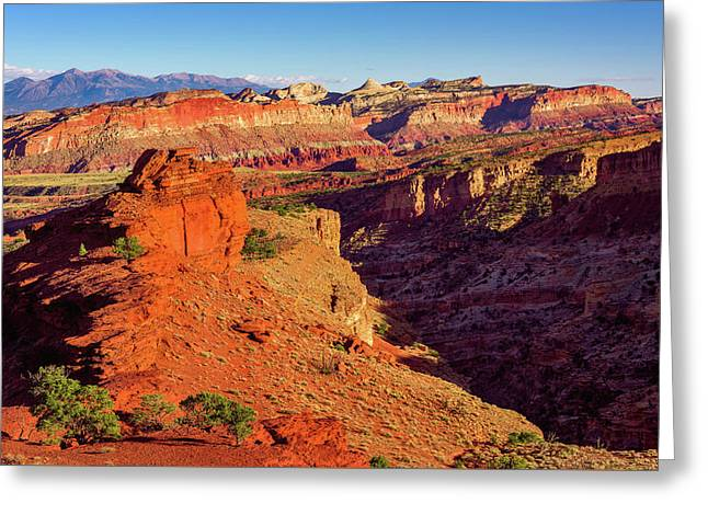 Greeting Card featuring the photograph Sunset Point View by John Hight
