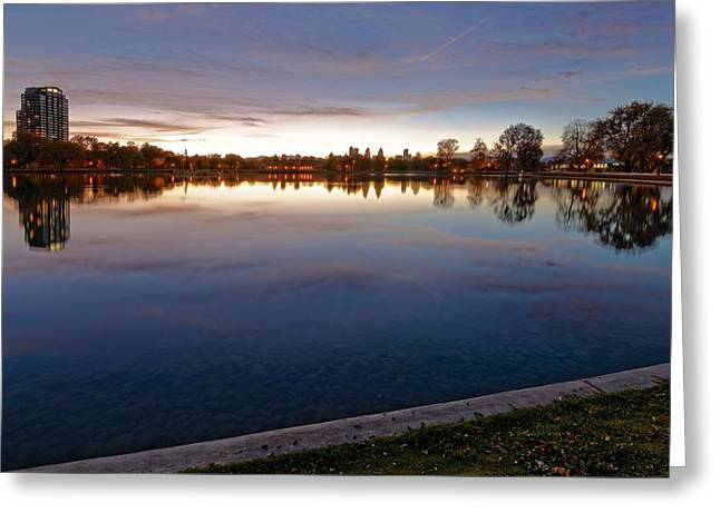 Sunset Pond Greeting Card