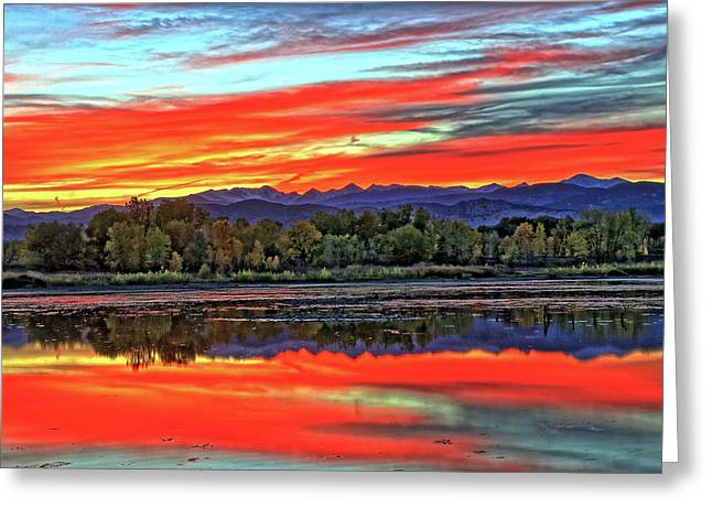 Greeting Card featuring the photograph Sunset Ponds by Scott Mahon