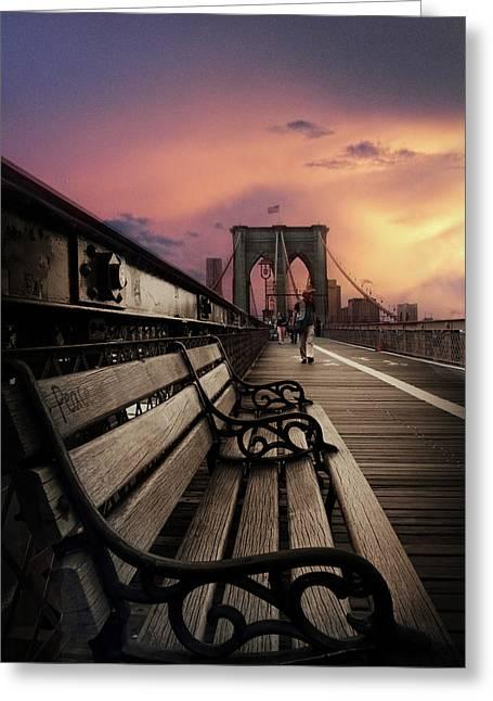 Sunset Promenade Greeting Card