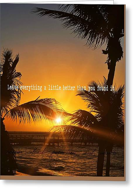 Sunset Quote Greeting Card by JAMART Photography