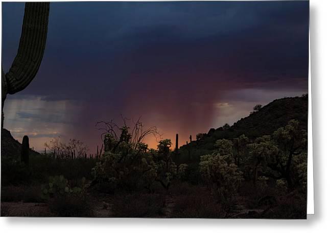 Sunset Rainfall Greeting Card