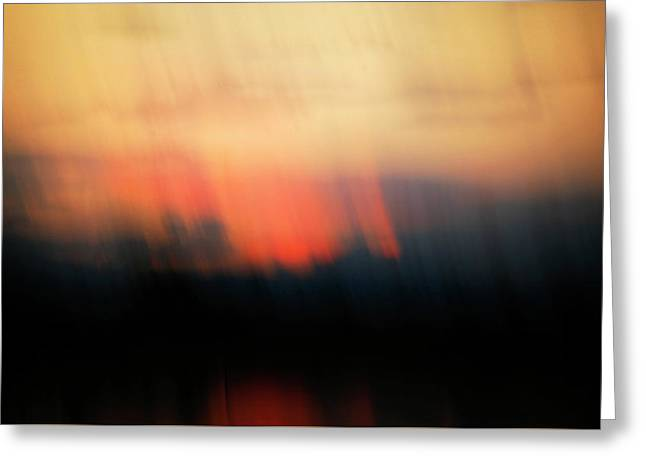 Greeting Card featuring the photograph Sunset Raining Down by Marilyn Hunt