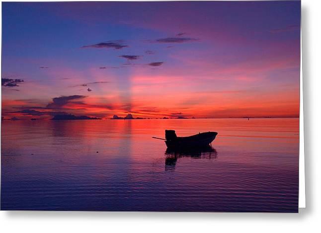 Sunset Rays Greeting Card