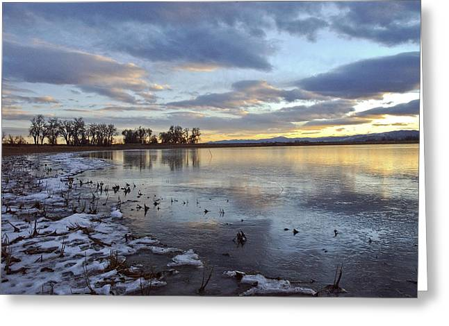 Sunset Refections Greeting Card by James Steele