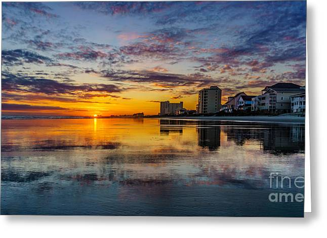 Sunset Reflection Greeting Card
