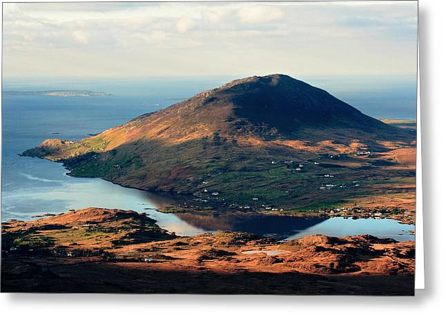 Sunset Reflection In Connemara Ireland Greeting Card by Pierre Leclerc Photography