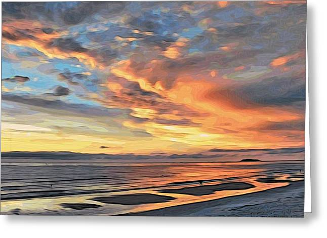 Sunset Reflections Greeting Card by Alexandre Ivanov