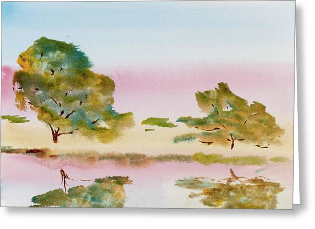 Reflections At Sunrise Greeting Card