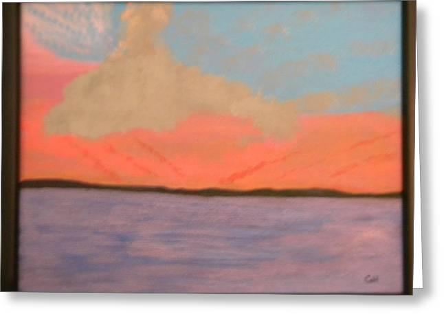 Sunset Reflections Greeting Card by Chris Heitzman