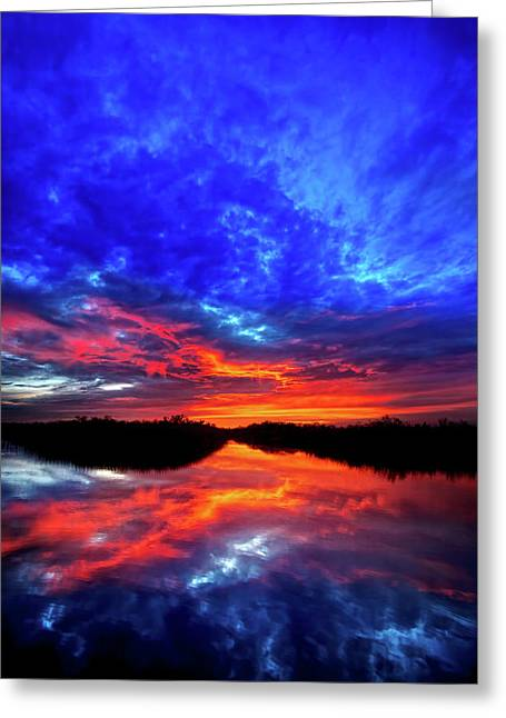 Sunset Reflections II Greeting Card by Mark Andrew Thomas