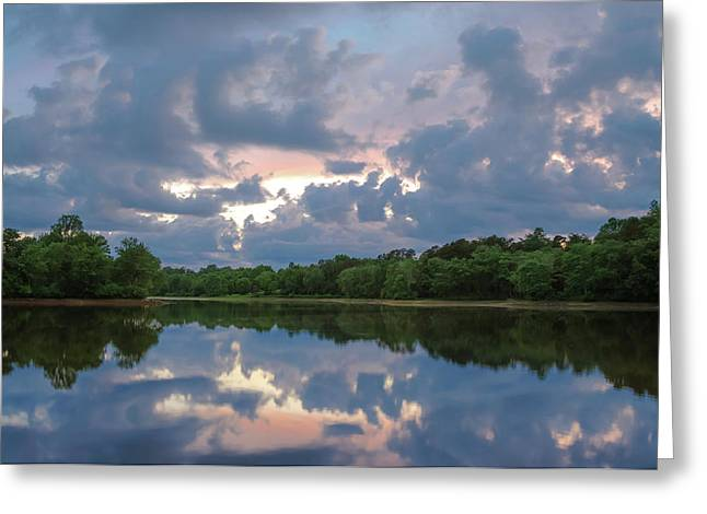 Greeting Card featuring the photograph Sunset Reflections by Lori Coleman