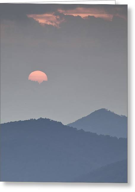 Sunset Repition - Blue Ridge Parkway Sunset Scene Greeting Card