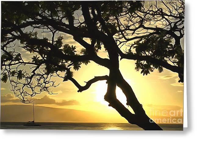 Sunset Revival Greeting Card by Krissy Katsimbras