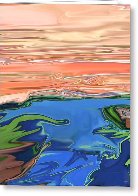 Sunset River Greeting Card by Kate Collins