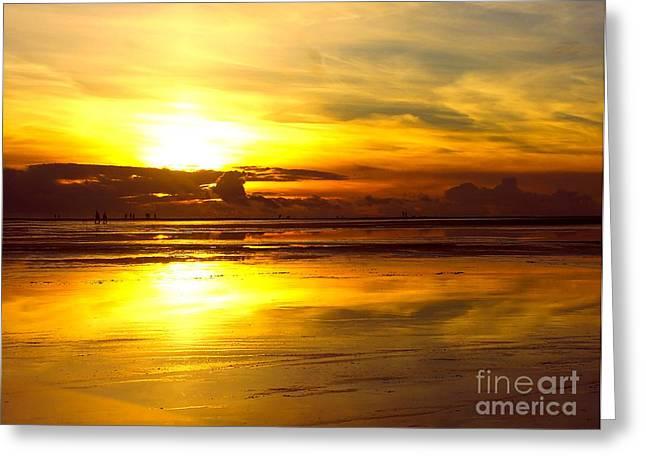 Sunset Roemoe Greeting Card by Sascha Meyer