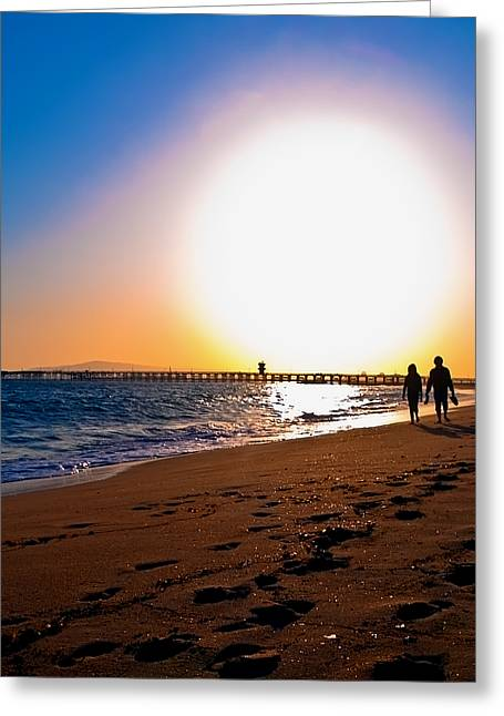Sunset Romance Greeting Card