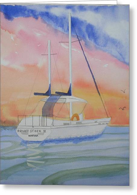 Sunset Sail 2 Greeting Card by Warren Thompson