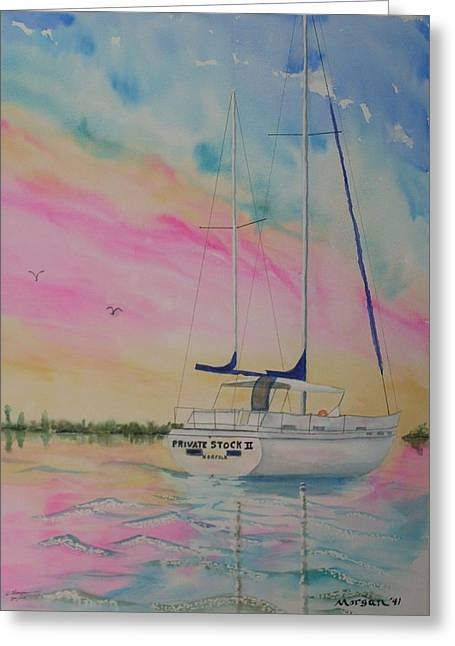 Sunset Sail 3 Greeting Card by Warren Thompson
