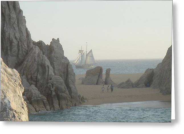 Sunset Sail  Los Cabos Mexico Greeting Card by John Julio