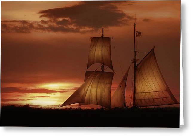 Sunset Sails Greeting Card