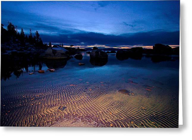 Sunset Sand Ripples Greeting Card