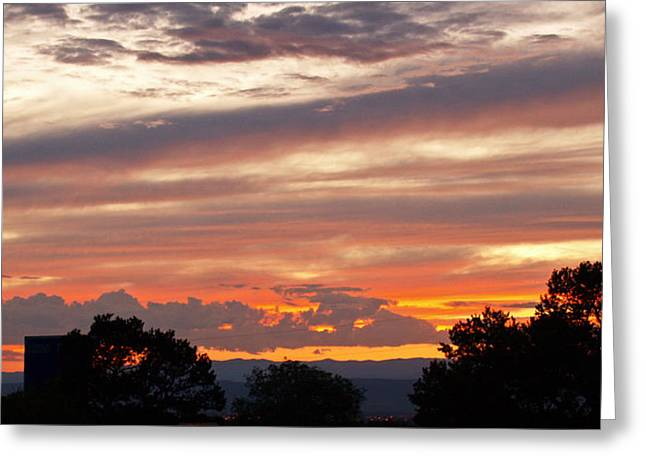 Sunset Santa Fe Greeting Card