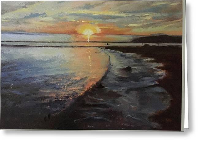 Sunset Sea Greeting Card