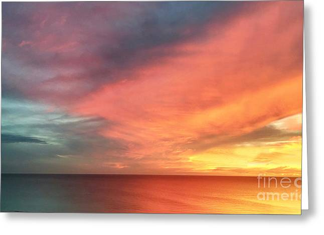 Sunset Seascape  Greeting Card by Judee Stalmack