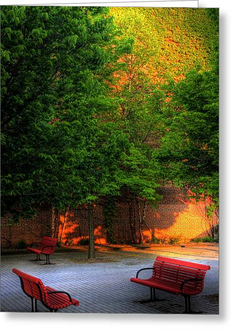 Sunset Seats Greeting Card by Don Nieman