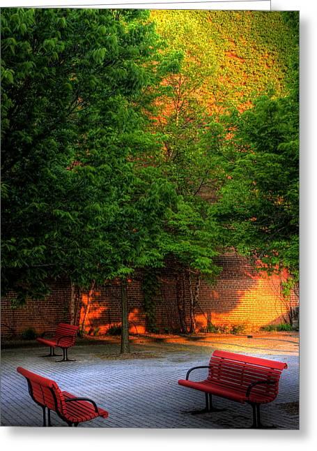 Sunset Seats Greeting Card