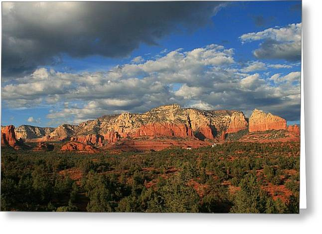 Sunset Sedona Style Greeting Card
