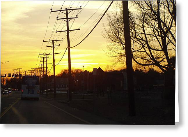 Greeting Card featuring the photograph Sunset by Shirin Shahram Badie