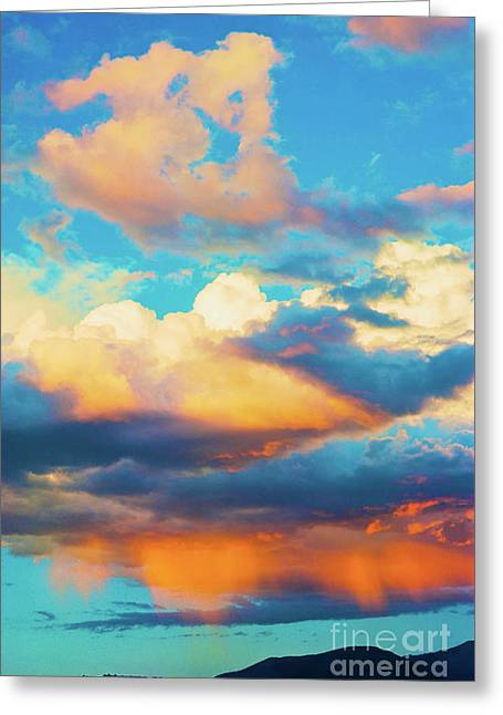 Sunset Showers Greeting Card