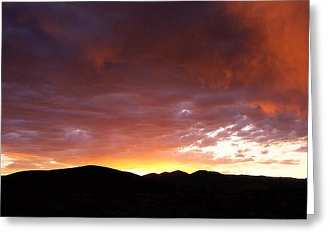 Sunset Sierra Nevada Mountains Ca Greeting Card