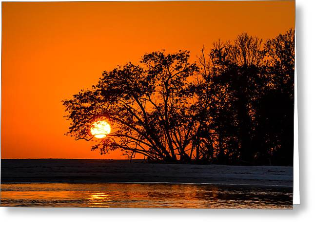 Sunset Sillouette Greeting Card