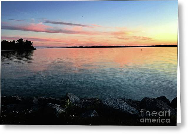 Sunset Sky Greeting Card by Laura Kinker