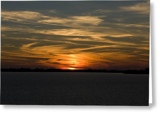 Sunset Sky Greeting Card by Phil Stone