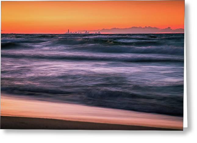 Sunset Skyline Greeting Card by Jackie Novak