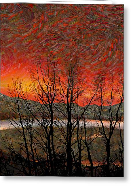 Sunset Soliloquy Greeting Card by Ed Hall