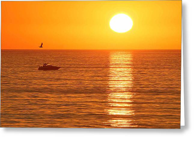 Sunset Solitude Greeting Card