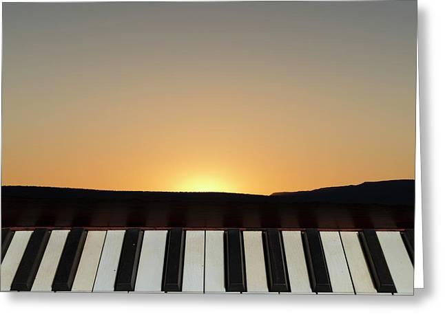 Sunset Sonata Greeting Card by David Gordon
