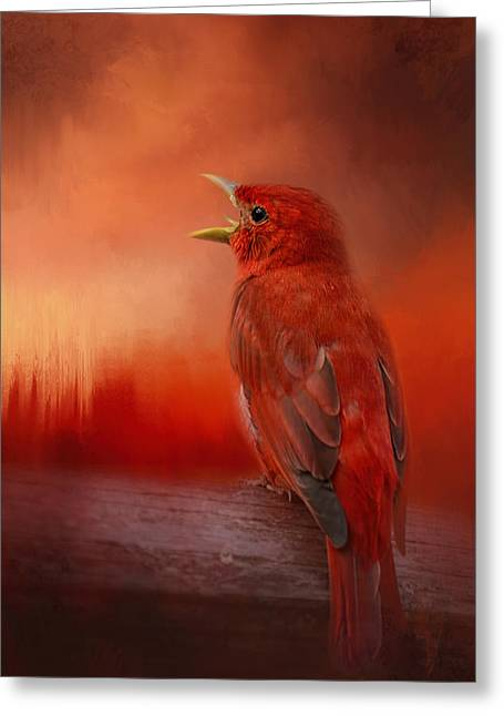 Sunset Song Greeting Card by Jai Johnson